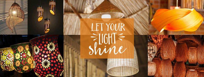 Getkraft Bamboo Natural Lamps